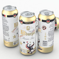 3d model beer bitburger 500ml