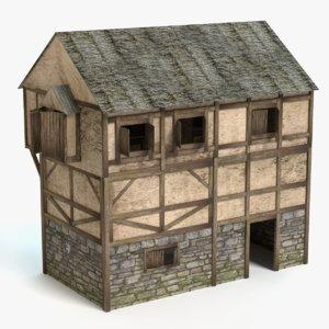 3d 3ds medieval house