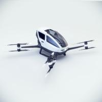 Ehang 184 3d model, Corona/Vray materials and scene