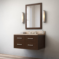hutton single floating vanity 3d model