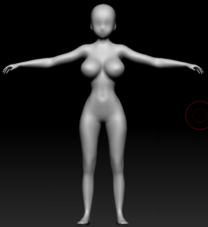 3d manga female base
