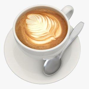 cappuccino 4 3d model