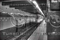 NEW YORK CITY MTA SUBWAY B&W