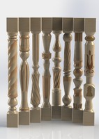 carved wooden baluster
