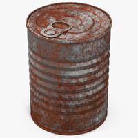 3d model tin rusty 1