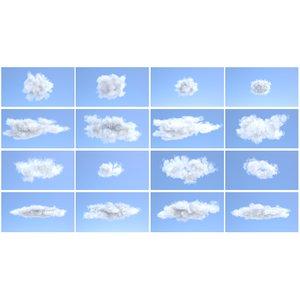 ma volumetric puff clouds