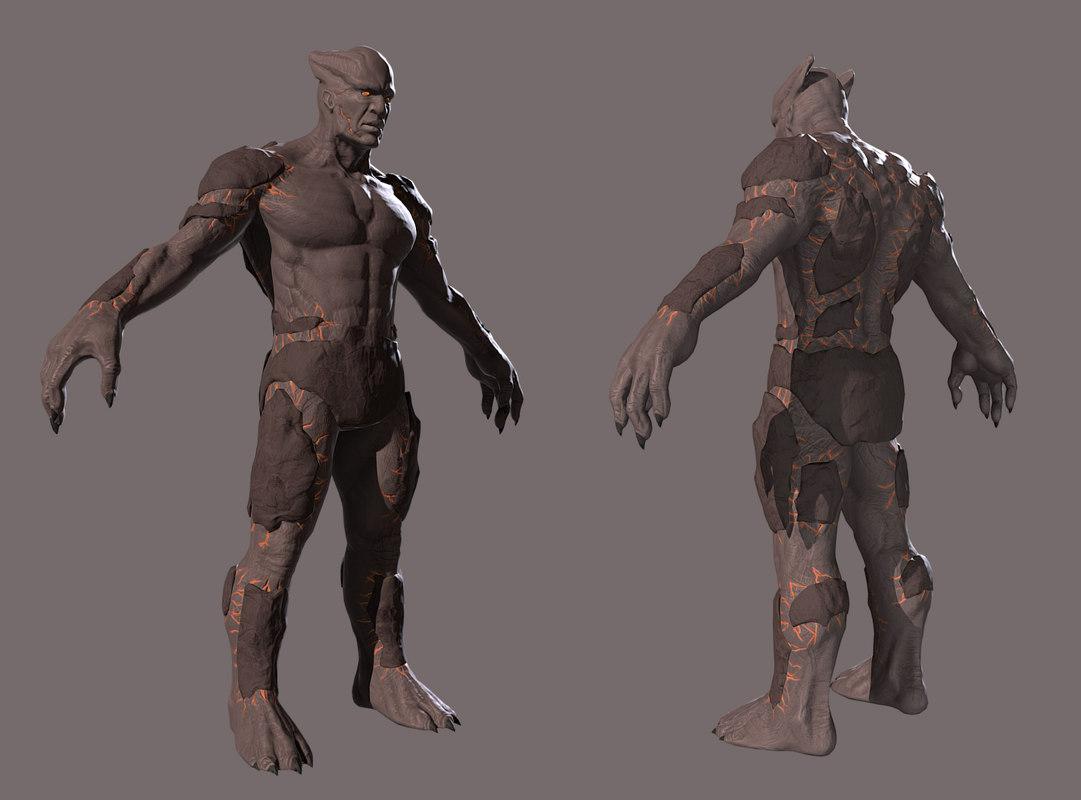 3d model golem character