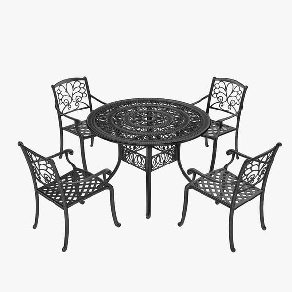3d iron furniture set