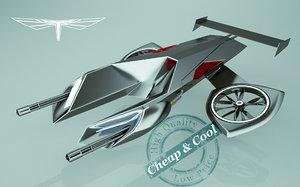 3d model scifi fighter