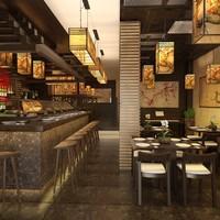 interior restaurant 3d ma