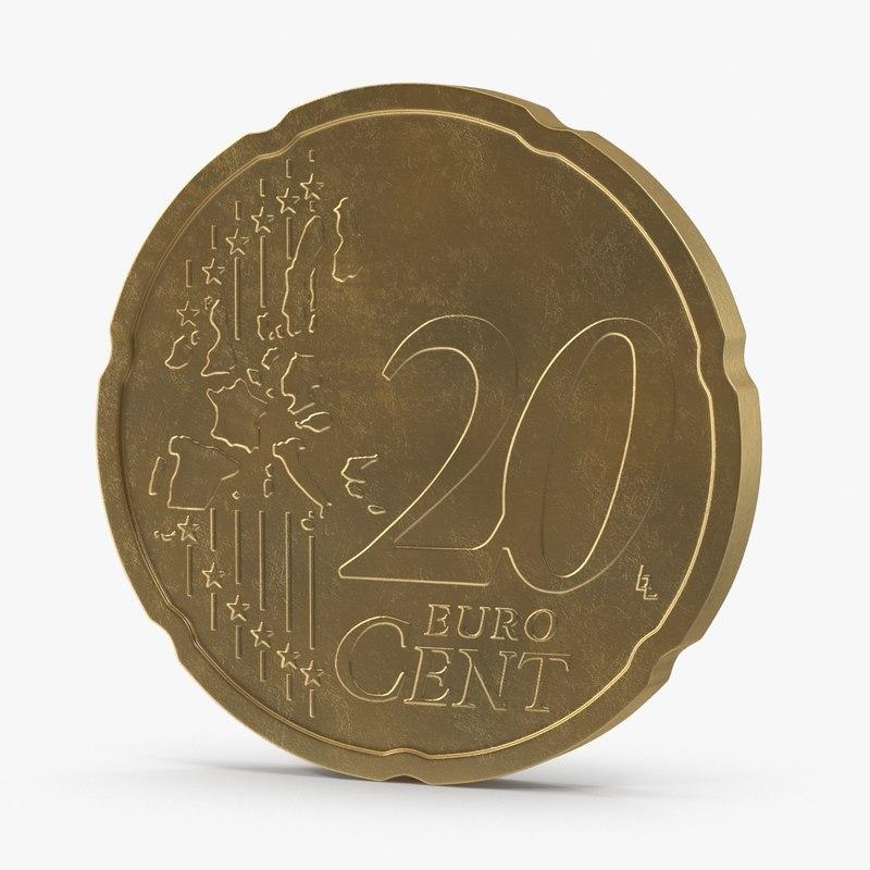 max 20 cent euro coin