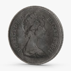 3d 5 pence coin