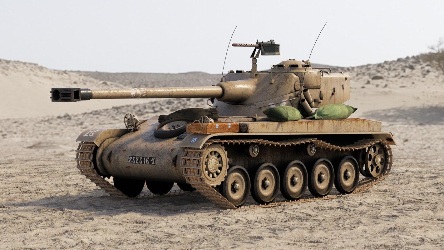 3d model set amx-13