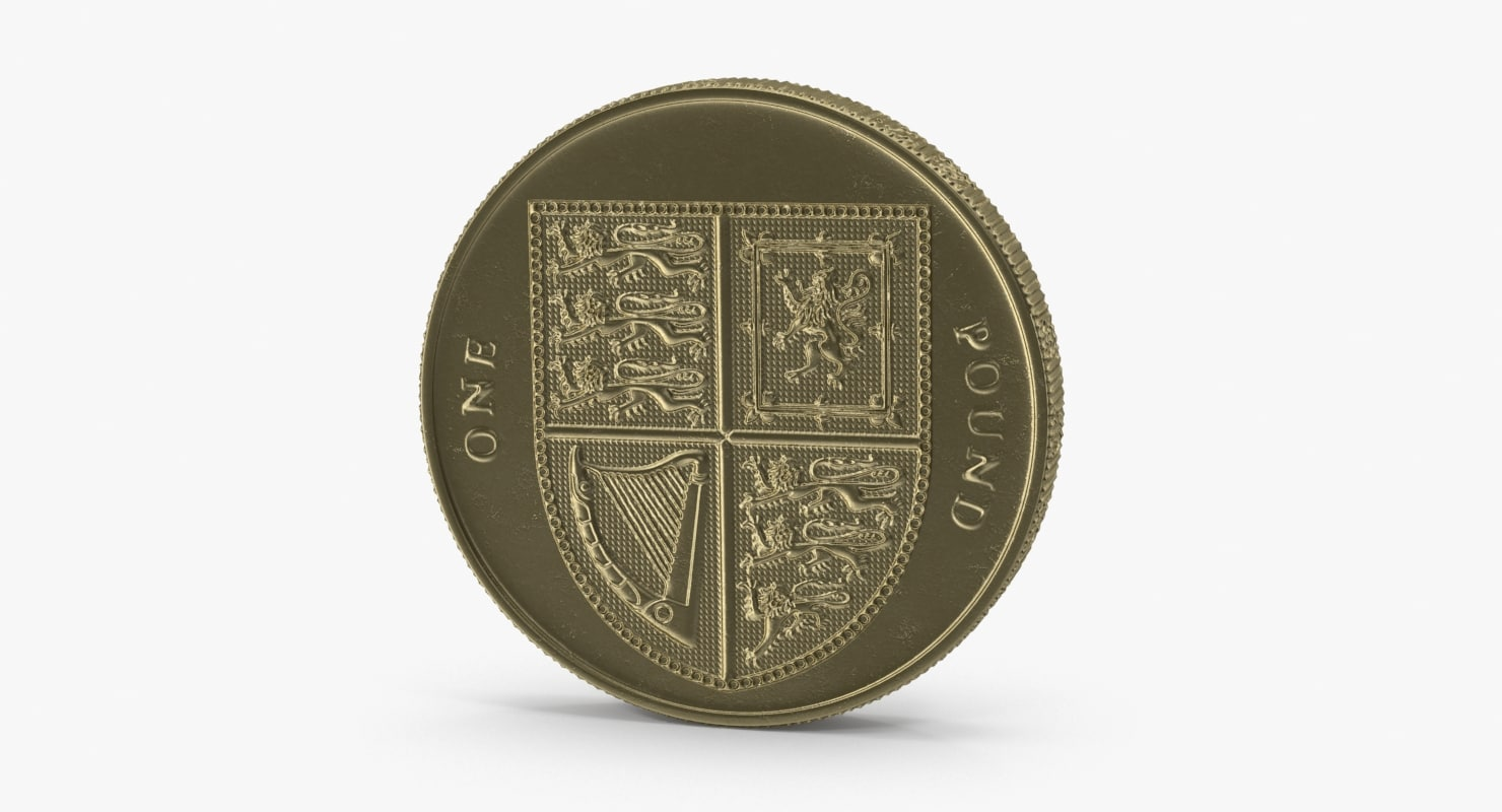 british pound coin 3d model