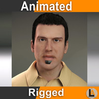 casual animator 3d model