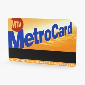 metro card 3d max
