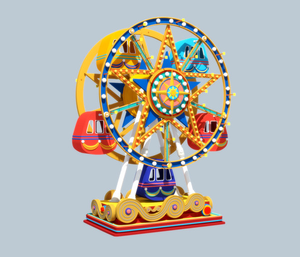 cartoon ferris wheel rigged ma