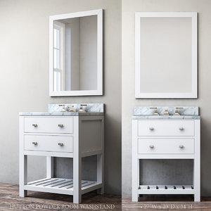 hutton powder room washstand 3d model