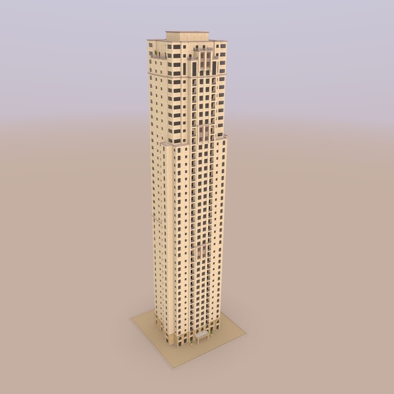 3d model of jumeirah beach residence murjan