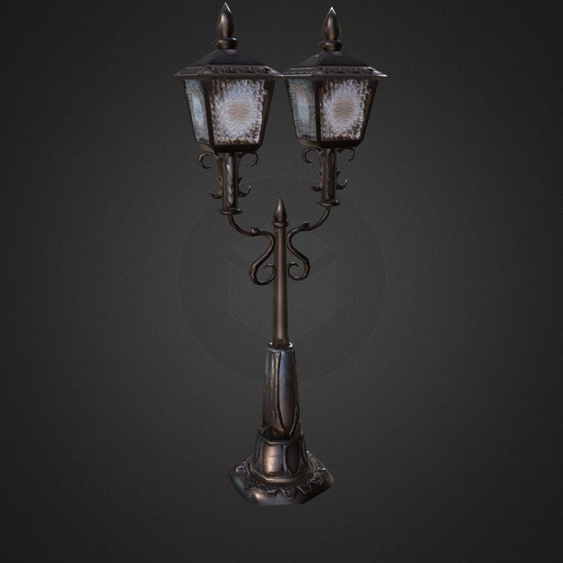 street lamp obj