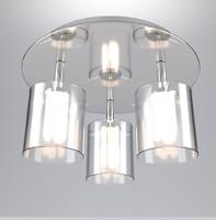 3 spot ceiling lamp 3d obj