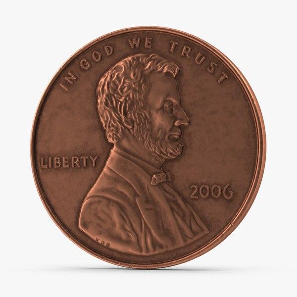 3d model penny