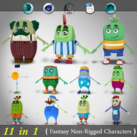 11 1 non-rigged cartoon character c4d
