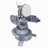 3d antiaircraft laser turret model