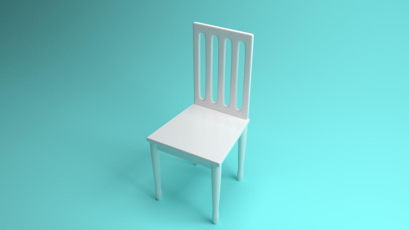 3d 3ds modern chair