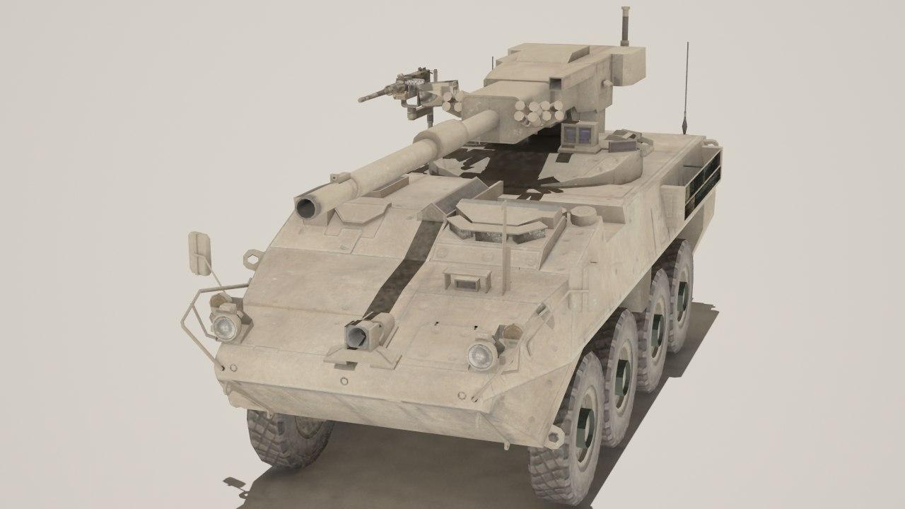 3d model m1128 mobile gun systems