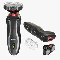 electric razor philips 3d model