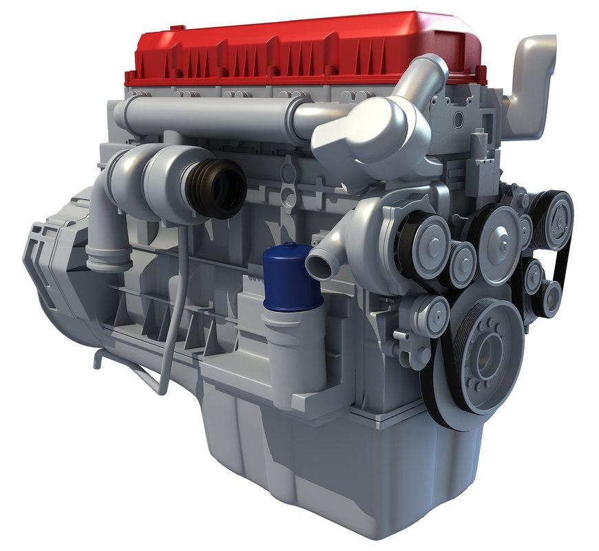truck engine 3d model