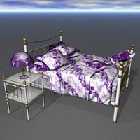 3d lilac bed set