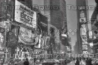 NEW YORK CITY TIMES SQUARE B&W