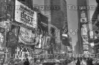 NEW YORK CITY TIMES SQUARE B&W