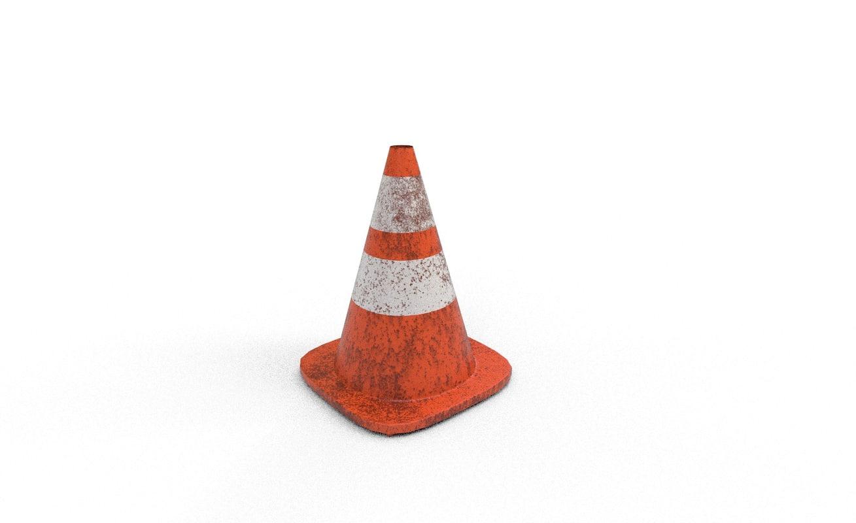 free street cone 3d model