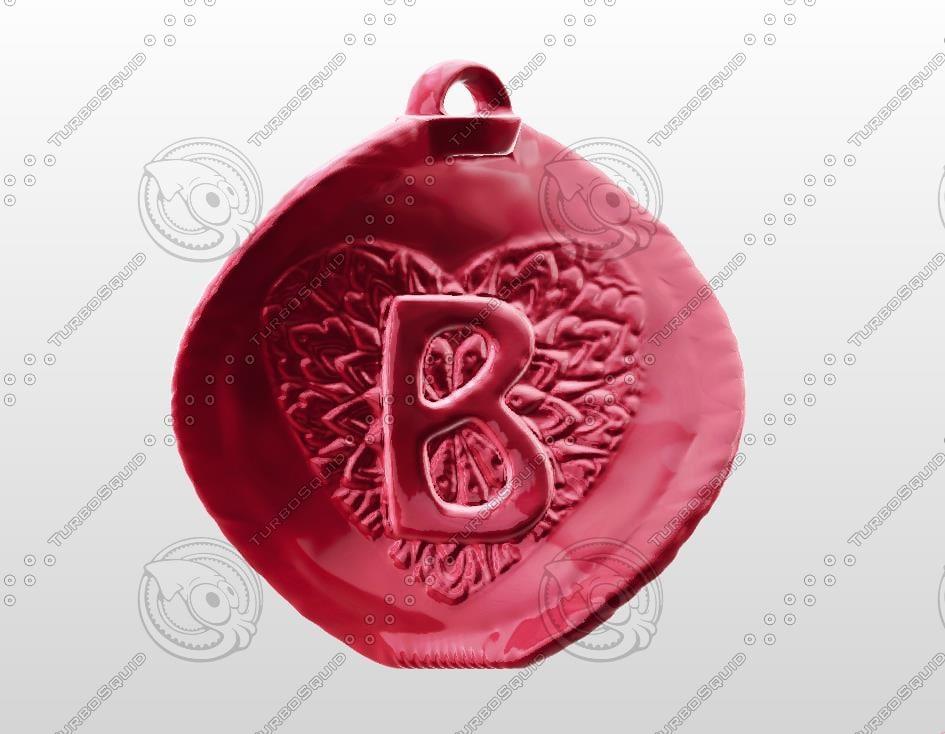 3d model love gift letter