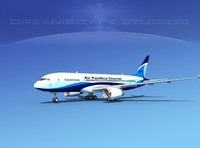 3ds airline boeing 787-8 787