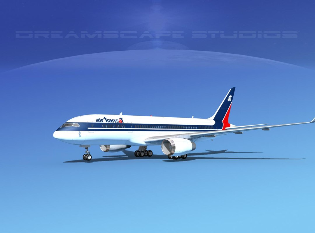 3d model of airline boeing 787-8 787