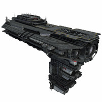Sci Fi Spaceship Battleship Cruiser - Sci-Fi  Spacecraft 6