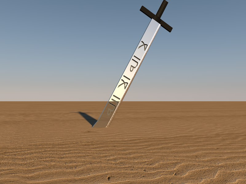 arabic sword x