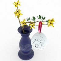 3d model hungarian easter egg forsythia