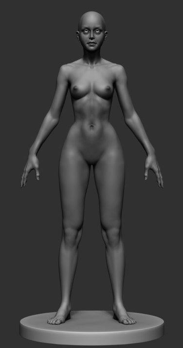 obj stylized female anatomy