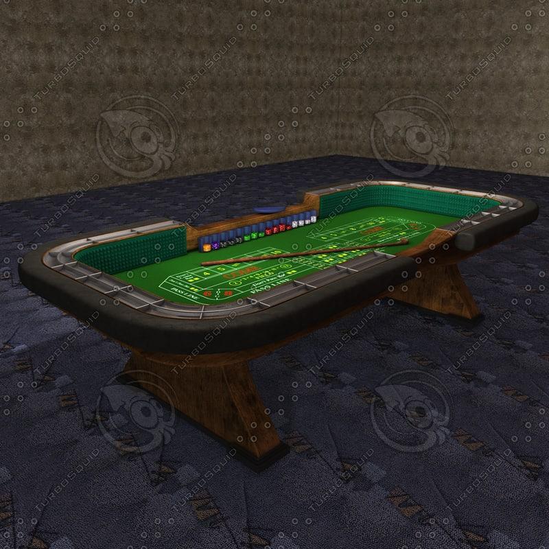 3d casino craps table accessories