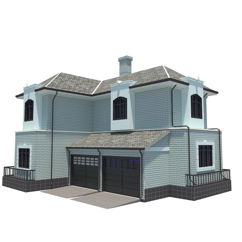 house single family 3d model