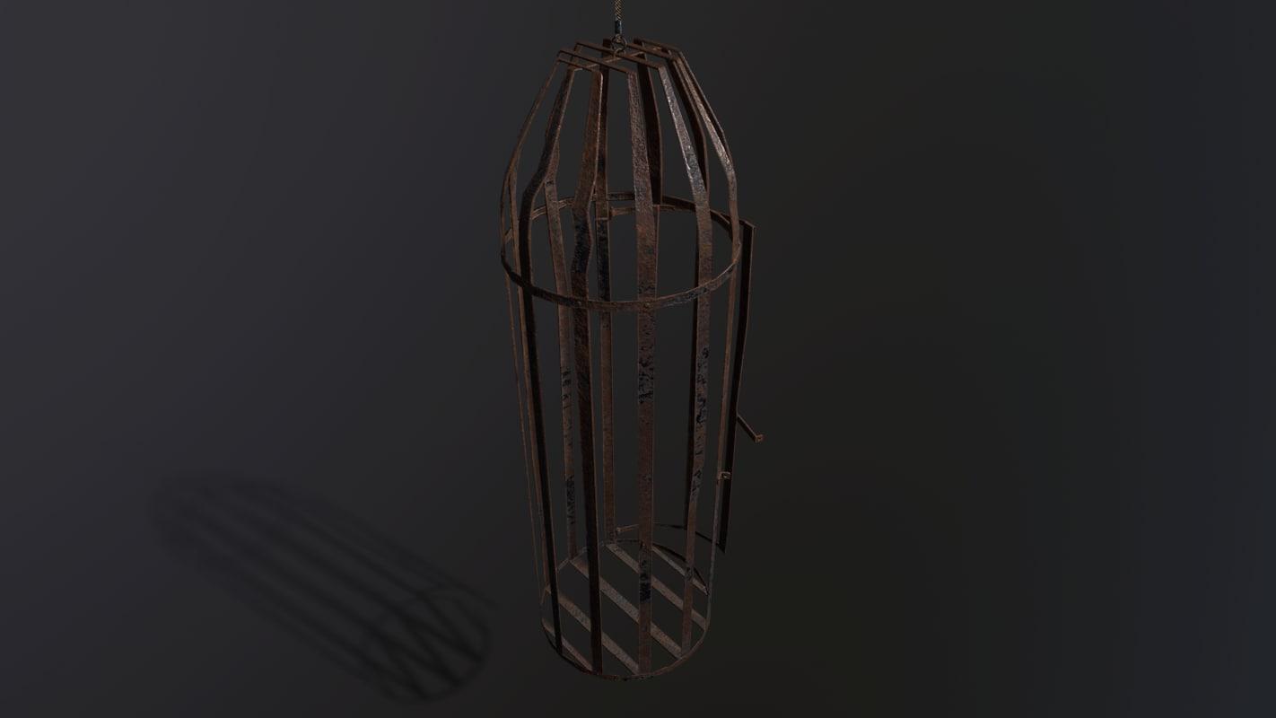 pbr medieval cage obj