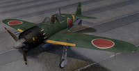 3d model of plane mitsubishi a6m5 zero
