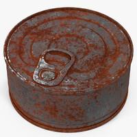 tin rusty 3 3d model