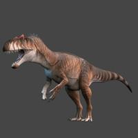 allosaurus dinosaur obj