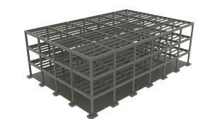concrete construction 3d model